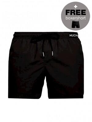Heren zwemshort SOLID2062-03z21 Black Muchachomalo