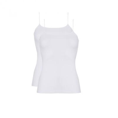 Spaghetti hemd 2-pack 30198 White Ten Cate Women Basic