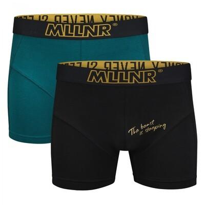 Boxershort 2-pack MLLNR-11-900z21 Black/Teal MLLNR