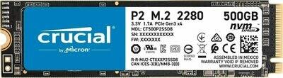 Crucial P2 500GB 3D NAND NVMe M.2 SSD