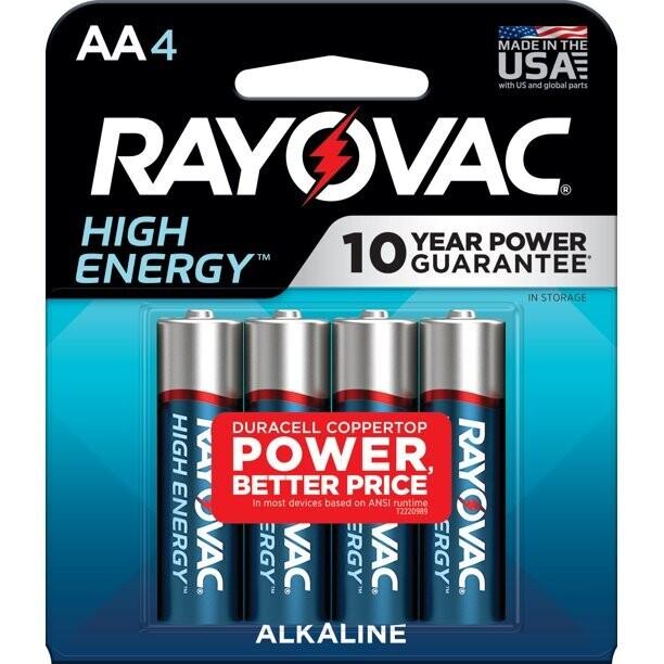 Rayovac Battery 4 Pac AA & AAA