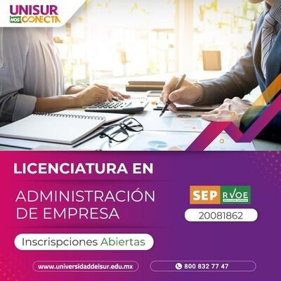 Licenciatura en Administración de Empresas Colegiatura