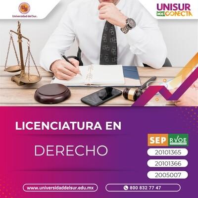 Licenciatura en Derecho Colegiatura