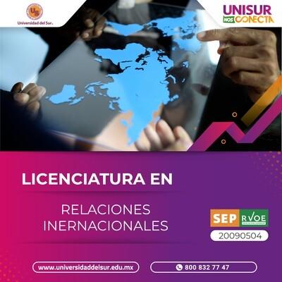 Licenciatura en Relaciones Internacionales Inscripción