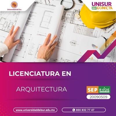 Tuxtla Licenciatura en Arquitectura Inscripción