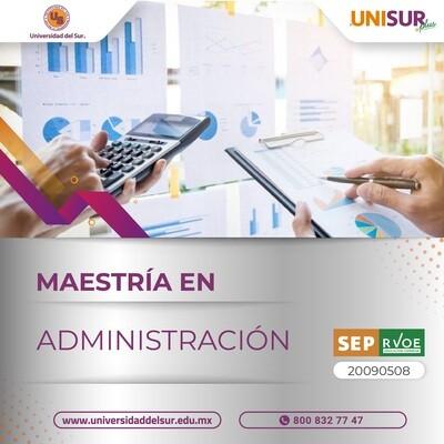 Maestría en Administración Inscripción