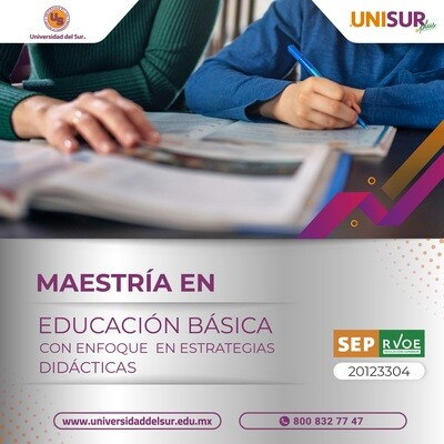 Maestría en Educación Básica con Enfoque en Estrategias Didácticas Colegiatura