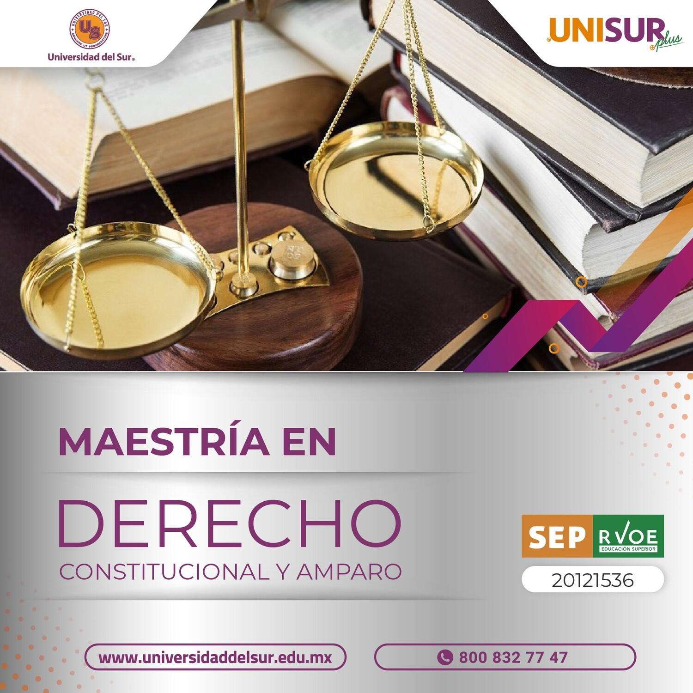 Maestría en Derecho Constitucional y Amparo Colegiatura