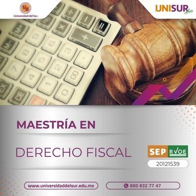 Maestría en Derecho Fiscal Inscripción