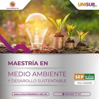 Maestría en Medio Ambiente y Desarrollo Sustentable Inscripción