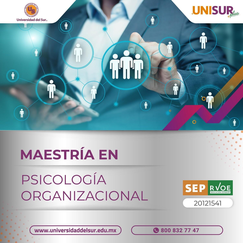 Maestría en Psicología Organizacional Inscripción