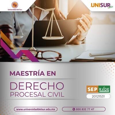 Maestría en Derecho Procesal Civil Inscripción