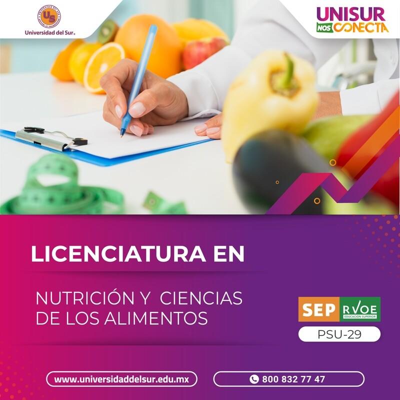 Licenciatura en Nutrición Colegiatura