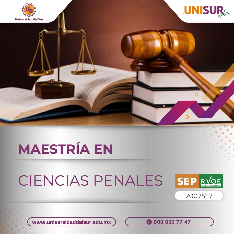 Maestría en Ciencias Penales Colegiatura