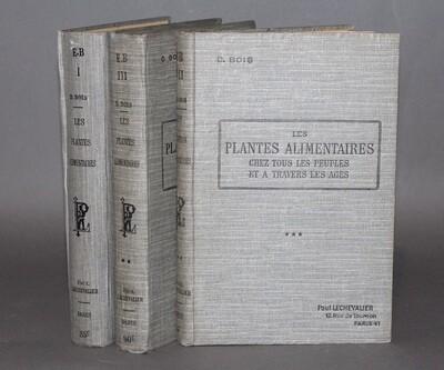 BOIS.- Les Plantes alimentaires, 1927-1934.