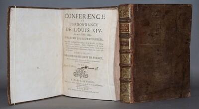 GALLON.- Conférence de l'ordonnance de Louis XIV... sur le fait des Eaux et Forests..., 1725
