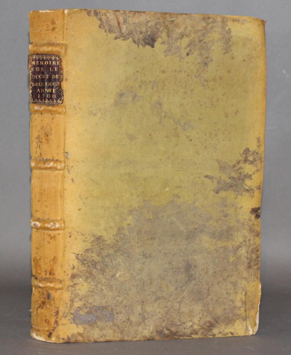 (BOURGOGNE - MANUSCRIT) FERRAND.- Mémoire sur la Bourgogne, 1700. Important manuscrit offrant l'état de la Bourgogne à la fin du XVIIè siècle.