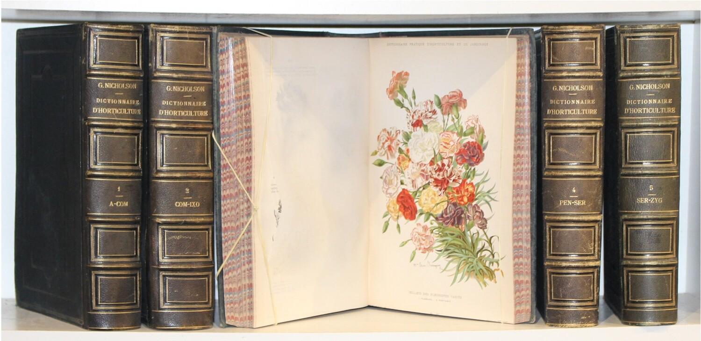 NICHOLSON & MOTTET.- Dictionnaire pratique d'horticulture et de jardinage, 1892-1899. Edition originale ornée de 80 planches en couleurs.