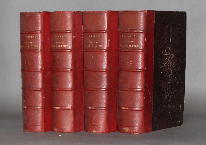 BARRAL & SAGNIER.- Dictionnaire d'agriculture, 1886-1892.- 4 volumes
