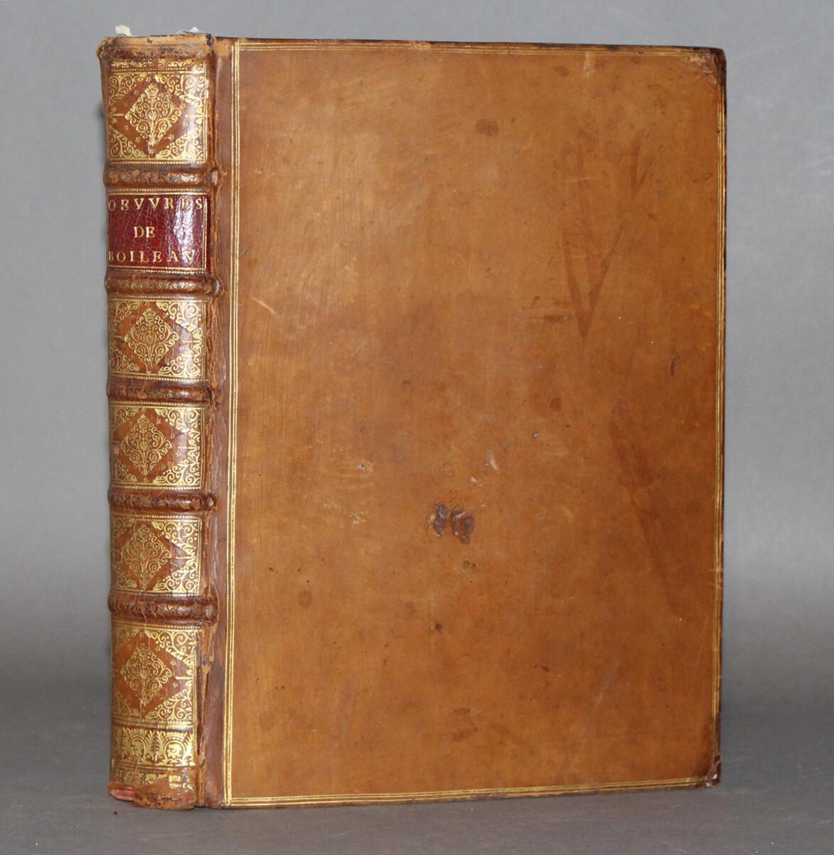 BOILEAU-DESPREAUX.- Oeuvres diverses..., 1701. Exemplaire au format in-quarto.