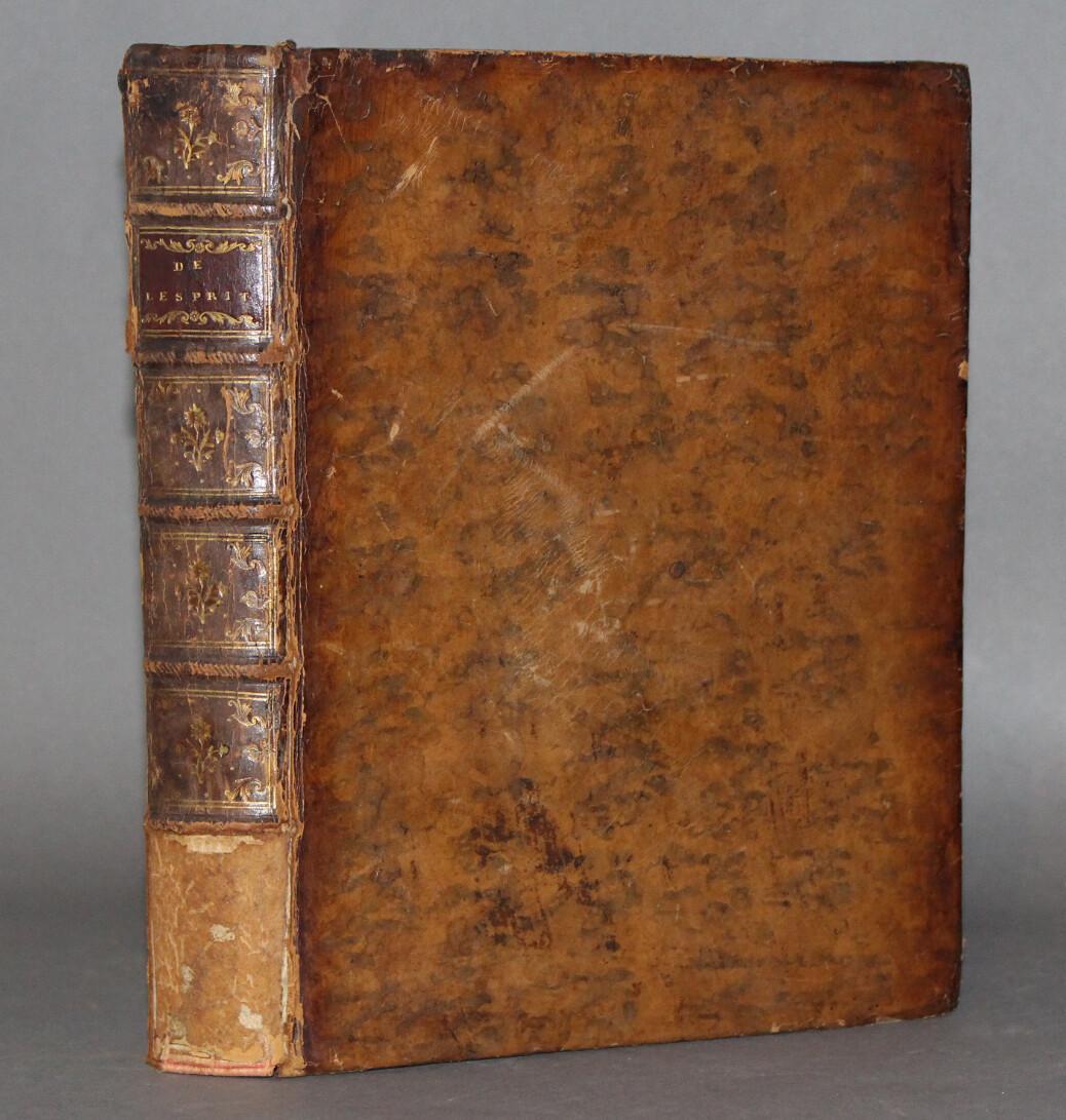 HELVETIUS.- De l'Esprit, 1758. Édition originale.