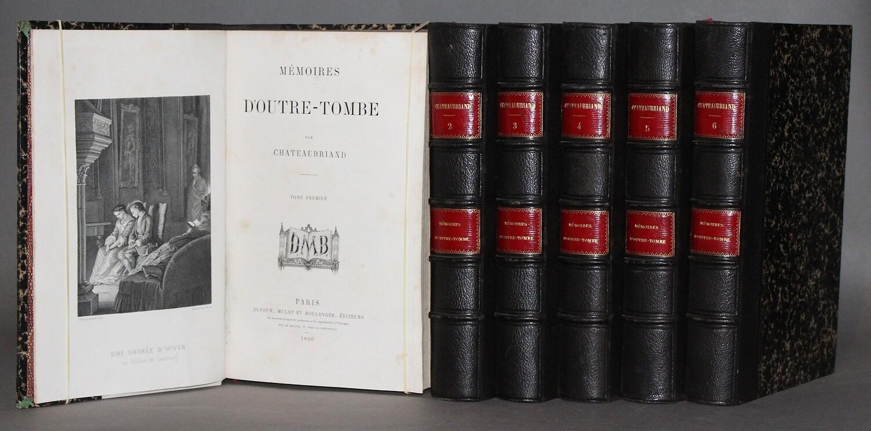 CHATEAUBRIAND.- Mémoires d'outre-tombe, 1860. Edition ornée de 48 planches.