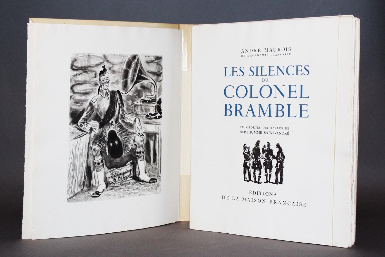 MAUROIS & BERTHOMMÉ SAINT ANDRÉ (illustrateur).- Les Silences du colonel Bramble, 1949.