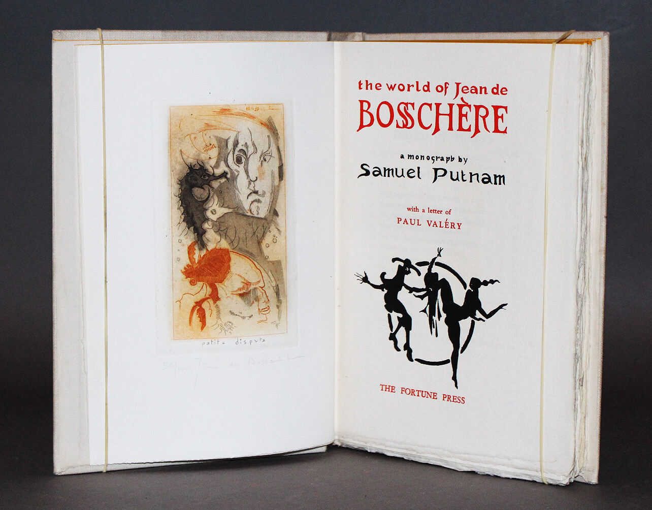 [DE BOSSCHÈRE] PUTNAM, Samuel. The World of Jean de Bosschère, 1932.