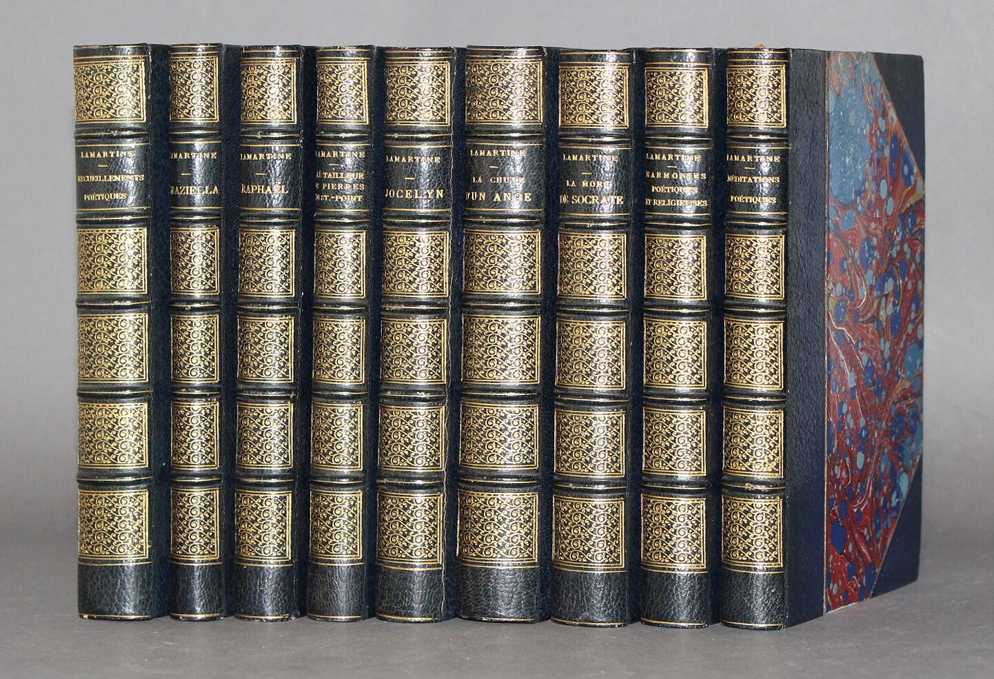 LAMARTINE.- Œuvres poétiques de Lamartine [et Romans], 1875-1882. Bel exemplaire.