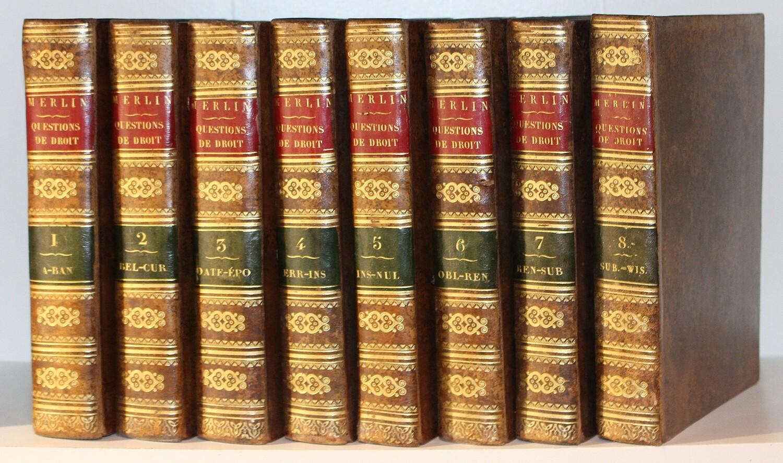 MERLIN.- Recueil alphabétique des questions de Droit...- 1827-1833.- 8 volumes