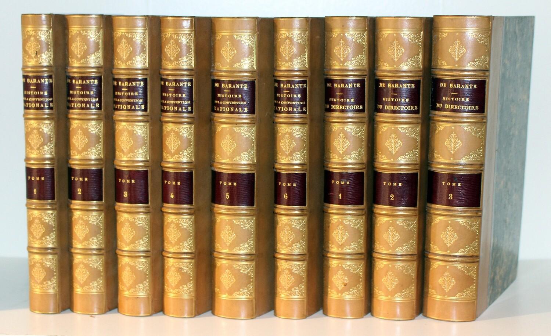 BARANTE.- Histoire de la Convention et du Directoire, 1851-1853, 1855. Très bel exemplaire.