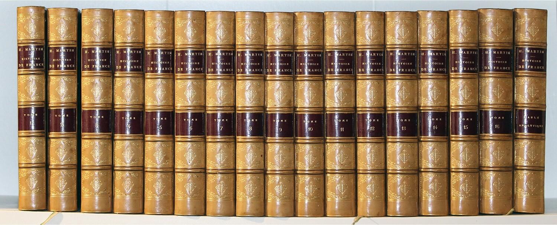 MARTIN.- Histoire de France depuis les temps les plus reculés jusqu'en 1789.- 1866-1860.- 17 volumes, très bel exemplaire.