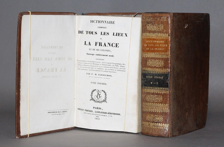 BARBICHON.- Dictionnaire complet de tous les lieux de France et de ses Colonies, 1831