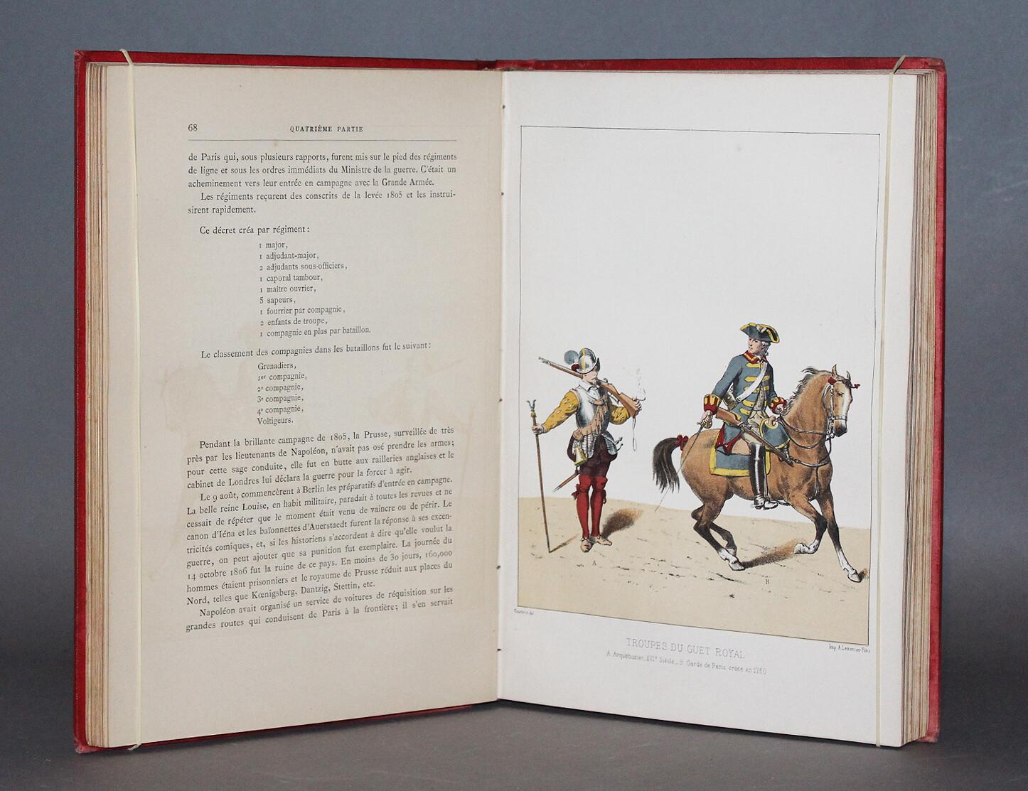 CUDET.- Histoire des corps de troupe qui ont été spécialement chargés du service de la ville de Paris depuis son origine jusqu'à nos jours, 1887.