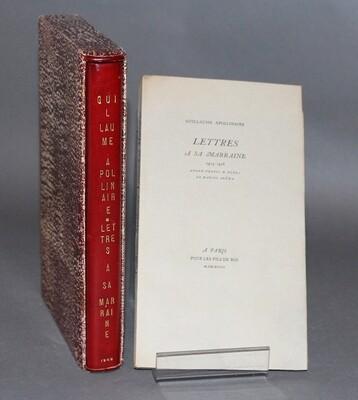 APOLLINAIRE.- Lettres à sa marraine, 1915-1918. Édition originale publiée en 1948.