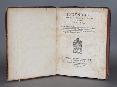 NUNEZ.- Phrynichi Epitomae dictionum Atticar libri III, sive Ecloga..., 1601-1603.