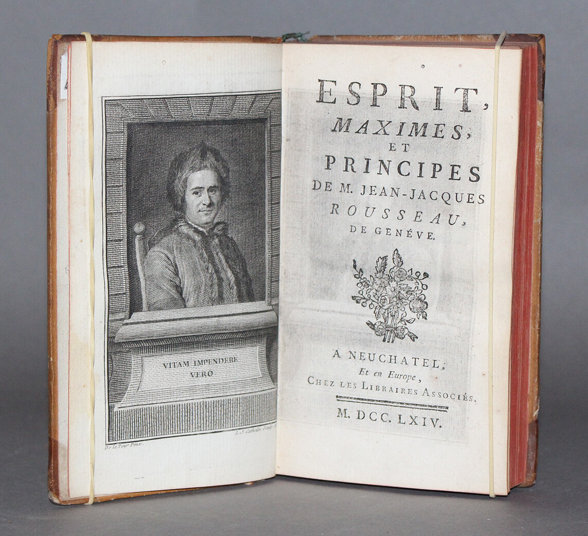 ROUSSEAU. Esprit, maximes, et principes, 1764