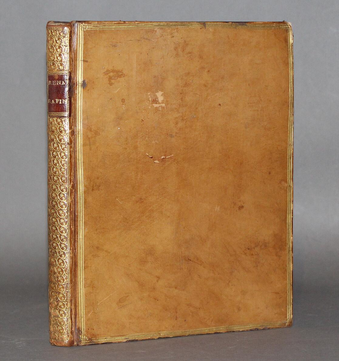 RAPIN.- Hortorum libri IV cum disputatione de cultura Hortensi, 1665. Bel exemplaire.