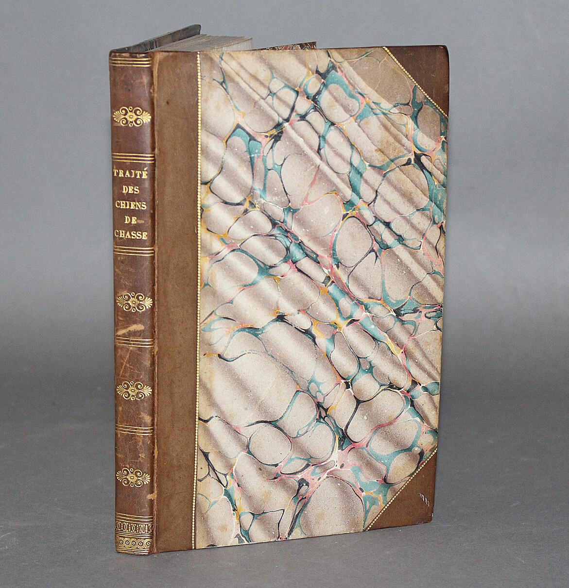 ROUSSELON.- Traité des chiens de chasse, 1827. Agréable exemplaire de la bibliothèque du duc d'Uzès au château de Bonnelles.