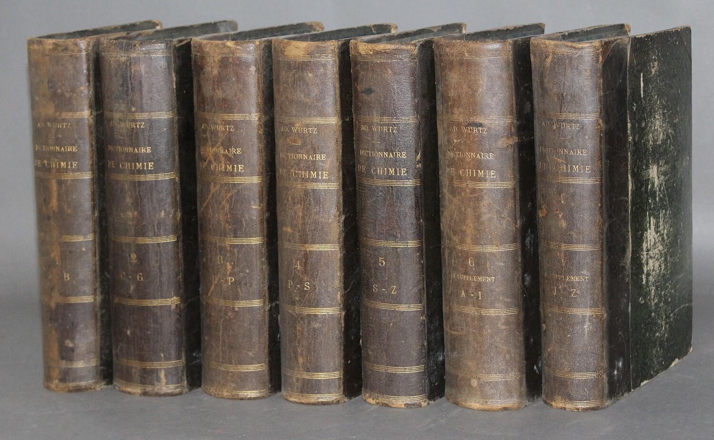 WURTZ.- Dictionnaire de chimie pure et appliquée, 1868
