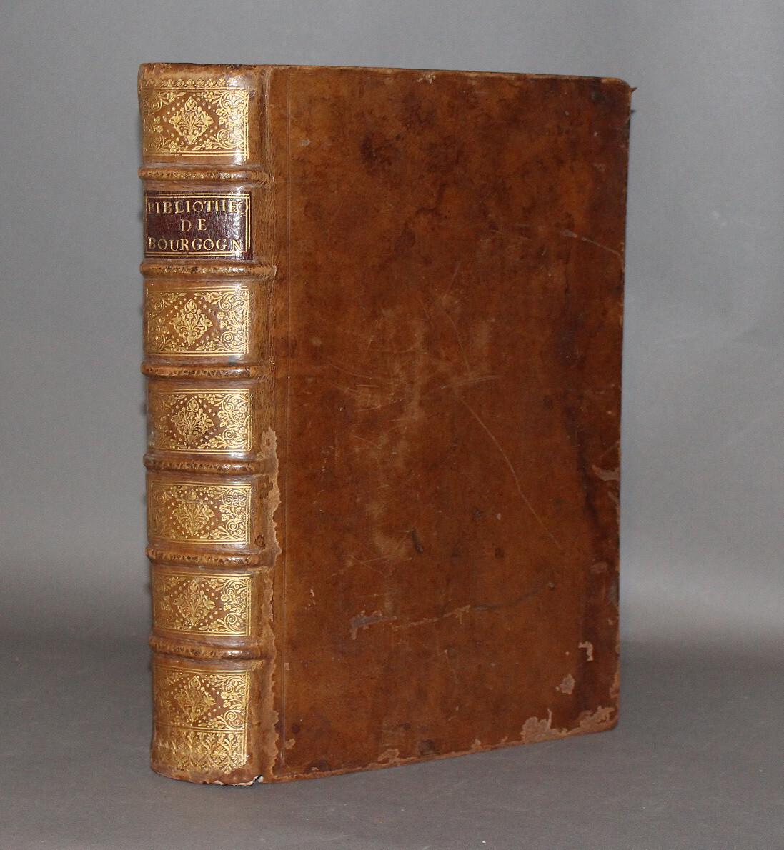 PAPILLON.- Bibliothèque des auteurs de Bourgogne..., 1742. Édition originale.