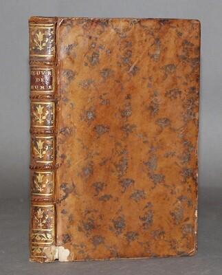 HUME, David.- Œuvres philosophiques, 1759. 2 tomes reliés en un volume.