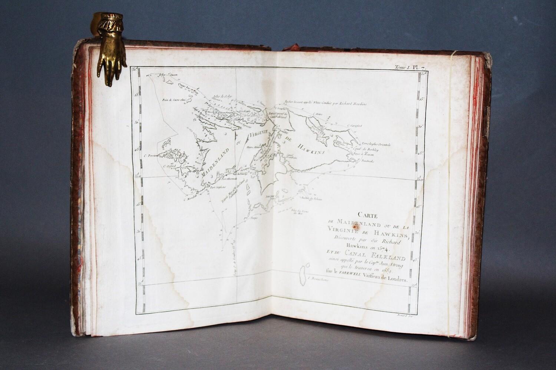 """COOK.- """"Atlas du premier voyage de Cook"""", (vers 1790)."""