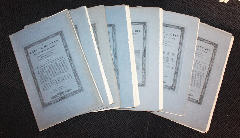 Gazette illustrée des Amateurs de Jardins. 1928-1937.- 10 années en 7 fascicules grand in-folio.