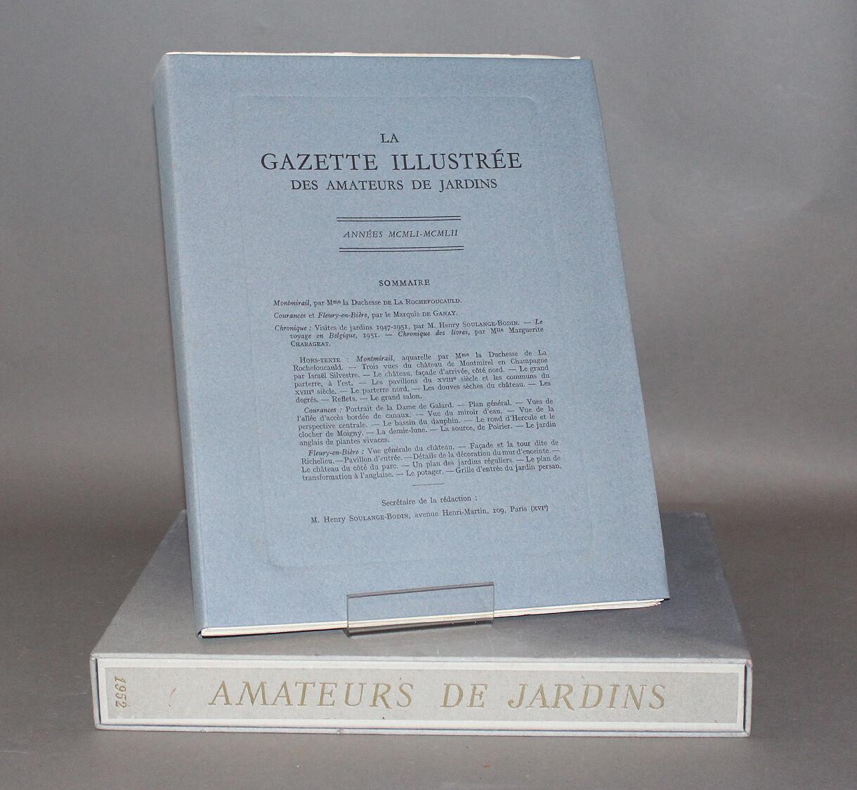 Gazette illustrée des Amateurs de Jardins. 1951-1952.