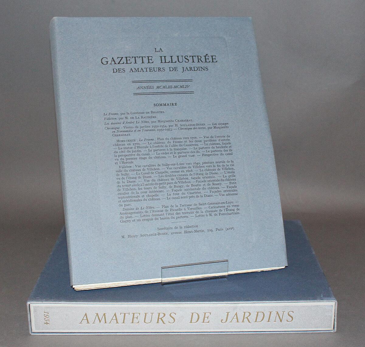 Gazette illustrée des Amateurs de Jardins. 1953-1954.