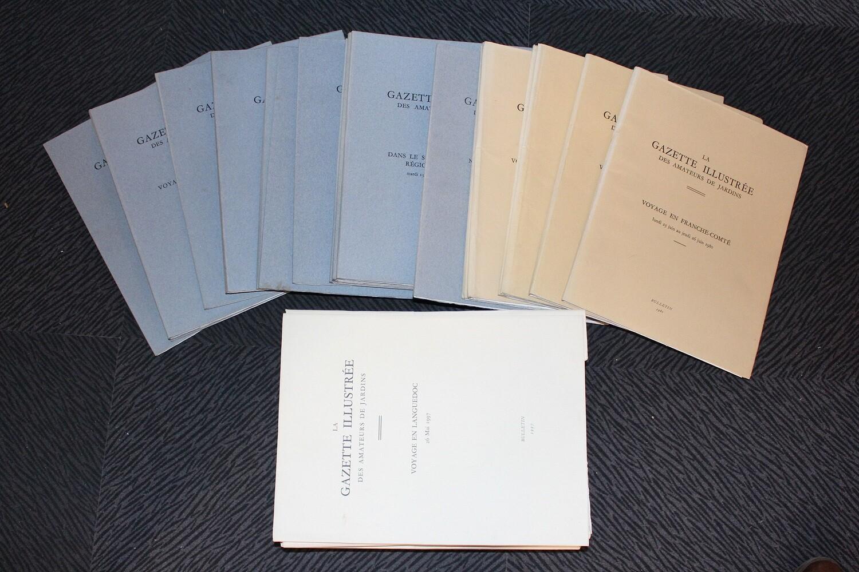 Gazette illustrée des Amateurs de Jardins. 1966-1967. Bulletins spéciaux.