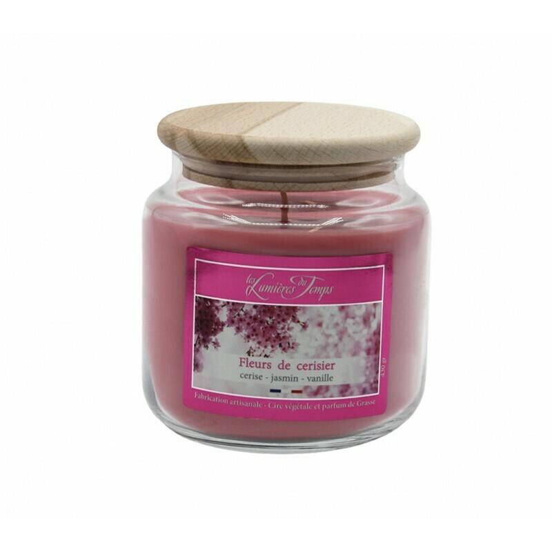 Bougie colorée 430 gr- Fleur de cerisier