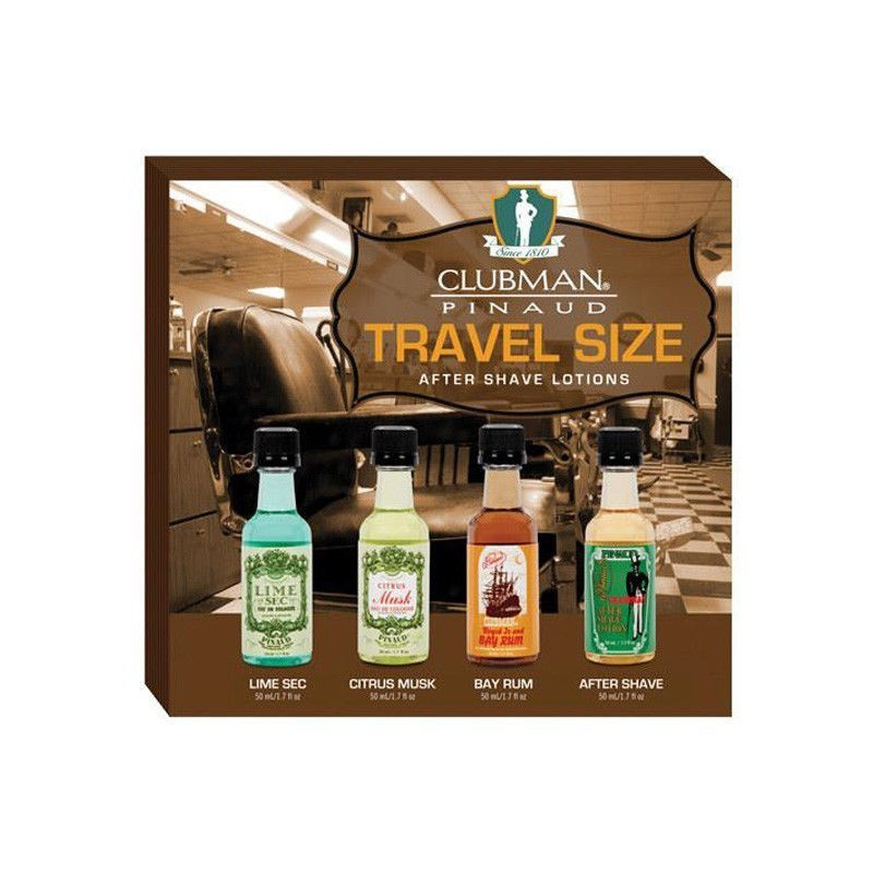 Clubman Pinaud - Kit da viaggio 4 After Shave (4X50ml)