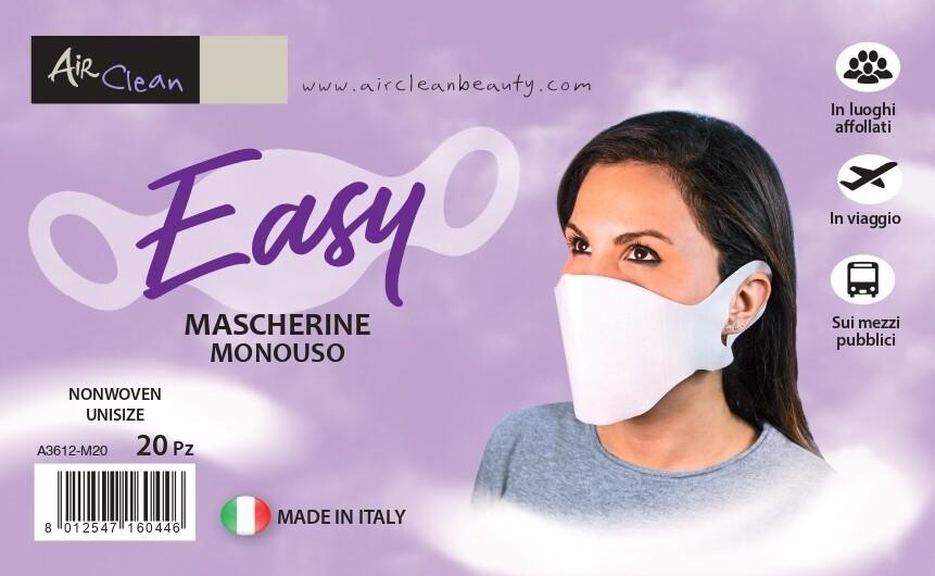 Confezione 20 Mascherine Monouso Filtranti.ESENTE IVA